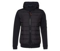 Jacke 'The knit detail down jacket' nachtblau