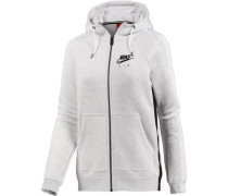 'W NSW Rally Hoodie FZ Air' Sweatjacke Damen weißmeliert