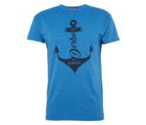Shirt 'Geankert 2001' blau / nachtblau