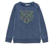 Sweatshirt nitheiko Brusheffekt blau / gelb