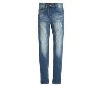 Skinny Suri: High Waist-Jeans blau