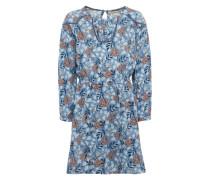 Kleid 'della JR' hellblau / dunkelblau / feuerrot