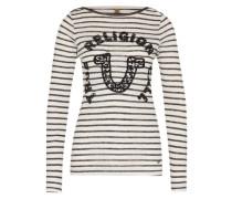 Streifen-Shirt navy / offwhite