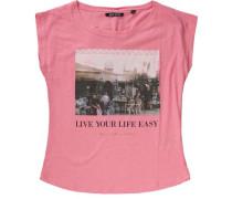 T-Shirt pink / schwarz