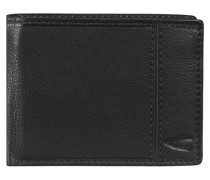 Rio Geldbörse Leder 12 cm schwarz
