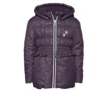 Jacke 'cute puffer jacket with print' dunkellila