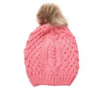 Mütze Gestrickte pink