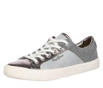 Sneaker Low 'Clinton' grau / silbergrau