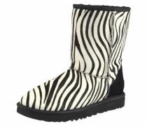 Winterboots »Classic Short Exotic« schwarz / weiß