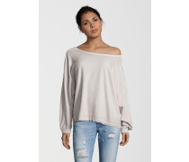 Sweatshirt Velvet Pailette grau
