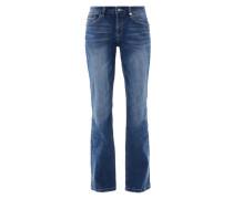 Smart Bootcut: Flared Stretch-Jeans blue denim