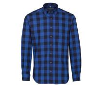 Langarm Hemd Modern FIT blau / schwarz