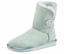 Winterboots 'Bailey Button 2 Metallic' hellblau / mint