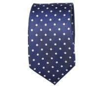 Krawatte ' Brown Label ' blau / weiß