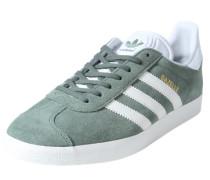 Sneaker aus Leder 'Gazelle' grün / grasgrün / pastellgrün