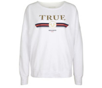 Sweatshirt True Gold White weiß