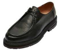 Leder- Schuhe schwarz