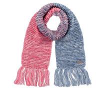 Schal Atlin mit Fransen für Mädchen blau / pink