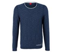 Pullover mit Flammgarnstruktur ultramarinblau