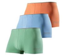 Langer Boxer (3 Stück) hellblau / grün / orange