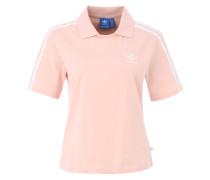 Poloshirt mit Bruststickerei pfirsich / rosa