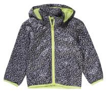 Übergangsjacke für Mädchen grau / hellgrün