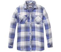 Bluse 'thdw Check Shirt L/S 14' hellgrau / lila / weiß