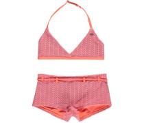 Halter Bikini 'PG Structure' pink / orangerot