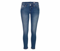 5-Pocket-Jeans »Touch Cropped« blau