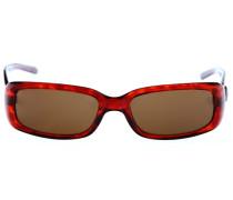 Sonnenbrille braun / feuerrot
