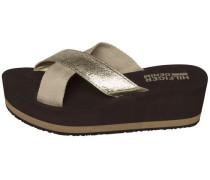 Sandale goldgelb