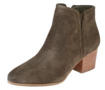 Ankle Boots 'Larissi' aus Leder oliv