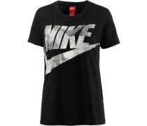 'Glacier' T-Shirt Damen hellgrau / schwarz