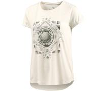 Diamond Floral T-Shirt Damen weiß