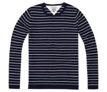 Pullover mit Streifenmuster schwarz / weiß