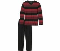 Pyjama bordeaux / schwarz