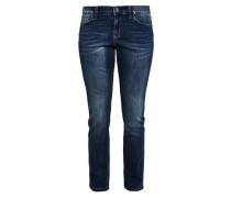 Curvy Slim: Jeans mit Waschung blau