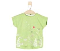 Shirt mit Print und Applikation apfel / rosa / weiß