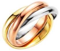 Ring tricolor (3tlg.) gold / rosé / silber
