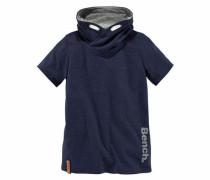 T-Shirt Schalkragen innen kontrastfarbig marine / grau