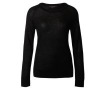 Strickpullover aus Wolle schwarz