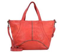 Traditional Handtasche Leder 24 cm orangerot