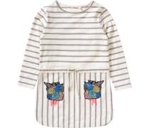Kinder Jerseykleid mit Glitzer-Patches weiß