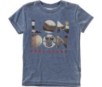 T-Shirt 'julius' blue denim