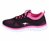 Sneaker mit Mesh-Ware pink