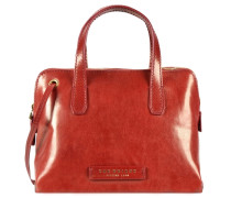 Plume Luxe Donna Handtasche Leder 25 cm rot / rostrot