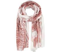 Modal-Seiden-Schal rosé / weiß