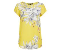 Blusenshirt 'Vmboca' gelb / weiß