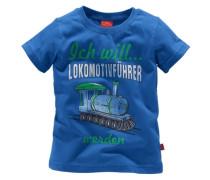 """T-Shirt """"Ich will Lokomotivführer werden"""" blau"""
