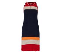 Sommerkleid in Strick 'Vane' blau / rot / weiß